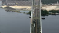Dames Point Bridge Over St John's River  - Aerial View - Florida,  Duval County,  United States video