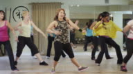 Dance fitness class in a studio video