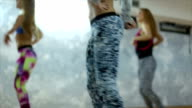 Dance fitness class in a studio video