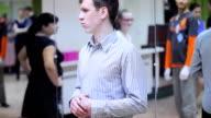 dance teacher at the lesson video