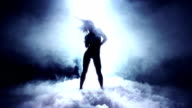 Dancer into Dry Ice video