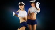 Dancers in marine outfit video