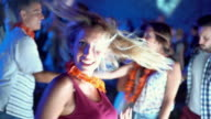 Dancing at a nightclub. video
