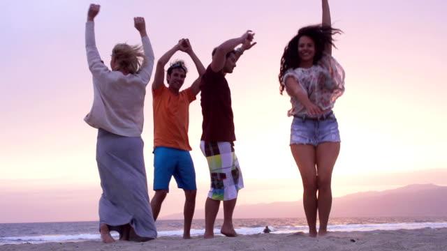 Dancing Beach Friends Slow Motion video