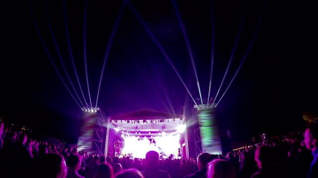 Dancing crowd at concert video