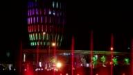 Dancing fountain at night video