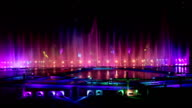 Dancing fountains and laser show video