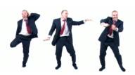 Dancing funny businessman loop video