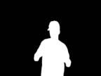 NTSC dancing man silhouette video
