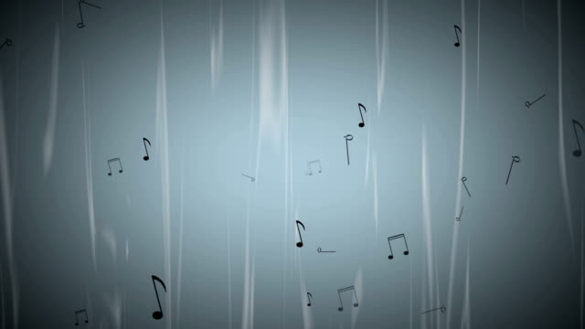 Dancing Music Notes on Blue Wavy Background video