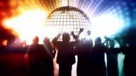 Dancing people and disco ball video