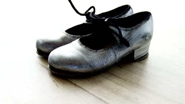 Dancing Shoes on wooden floor video