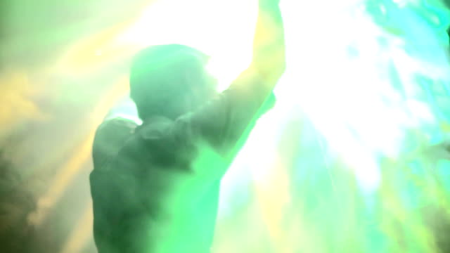 Dancing silhouette of man video