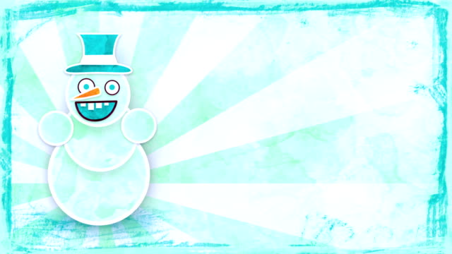 dancing snowman with luma matte loop video