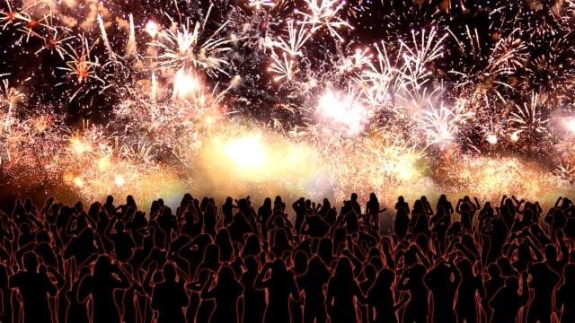 Dancing under fireworks video