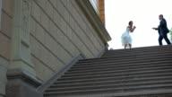 Dancing wedding couple. video
