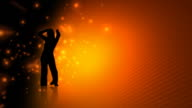 Dancing Woman On Orange Abstract video