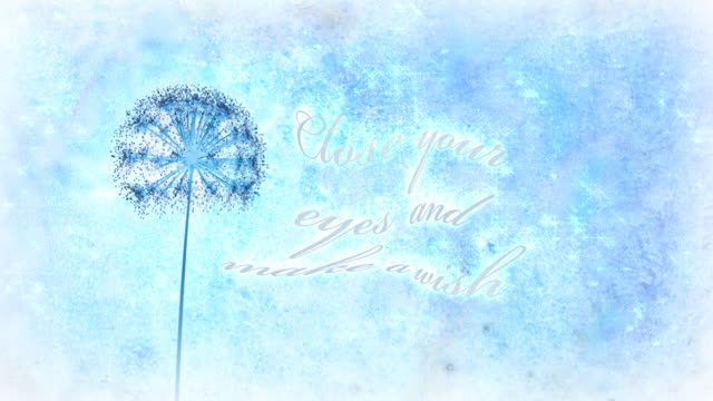 Dandelion Wishes, with text animation video