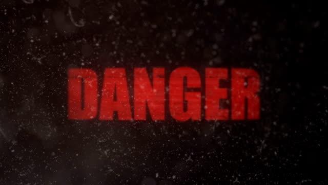 Danger Alert Signal on an Old Dirty Screen video