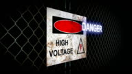 Danger High Voltage Sign video