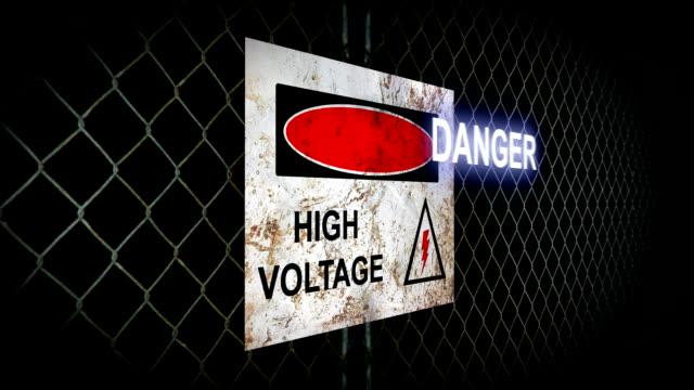 Danger High Voltage Sign video