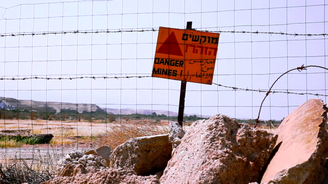 Danger mines sign video