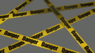 (Loop) Danger Warning Sign + Alpha included video