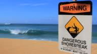 Dangerous shore break video