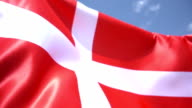 Danish Flag High Detail video