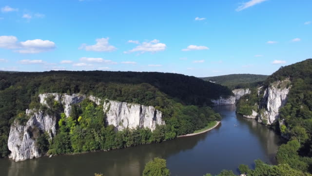 Danube Gorge (Donaudurchbruch) Near Kelheim-Weltenburg In Bavaria video