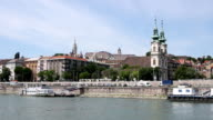Danube river Budapest cityscape Hungary video