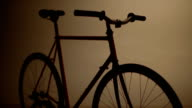 dark bicycle fixed gear lights on video