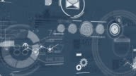 Dark Blue Corporate Background With Abstract Elements Of Infographics video
