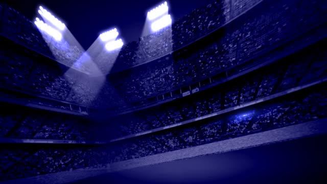 Dark Blue Stadium Stands Background Loop video