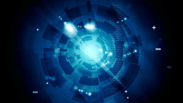 Dark blue technology video animation video