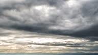 Dark clouds promise rain timelapse video