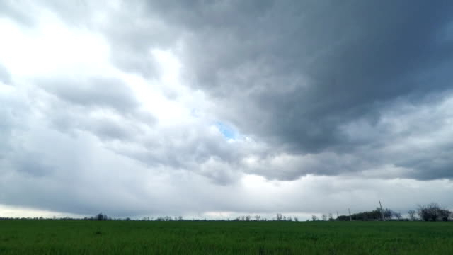 Dark Clouds Sweep Over the Green Field video
