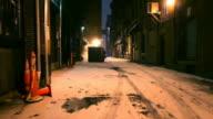 Dark Cold Alleyway video