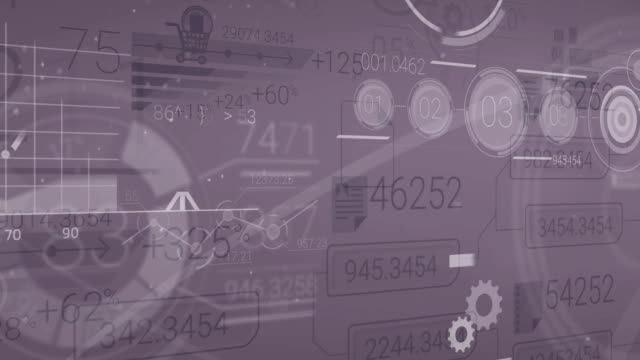 Dark Corporate Background With Abstract Elements Of Infographics video