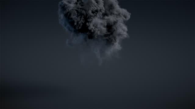 Dark explosion with alpha matte video