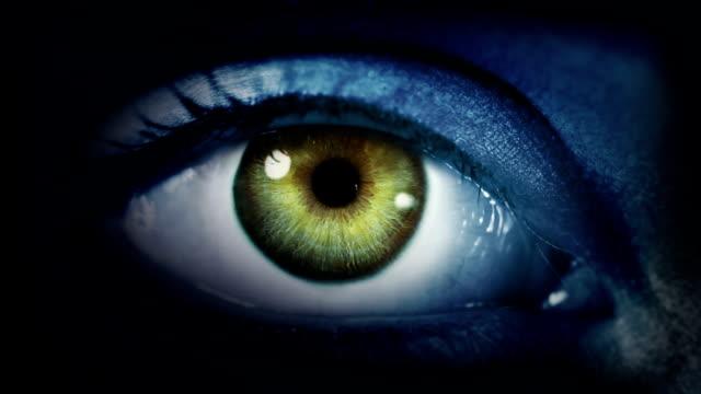 Dark Eye. Blue and Green. Dark gray skin. Loopable. video