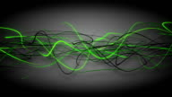 Dark green curved lines loop background video