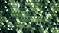 dark green triangles pattern seamless loop background video