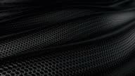 Dark metallic chain armor soft background loop video