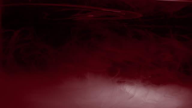 Dark Moody Red Ink In Water Texture video