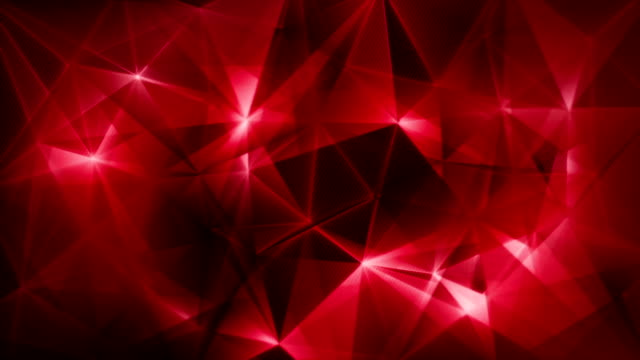 dark red triangles network trendy loop backgrund video