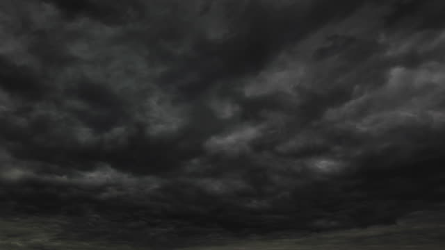 Dark storm clouds video