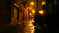 Dark Urban Alleyway video