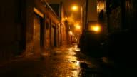 Dark Urban Alleyway video