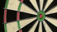 Dart hits bullseye video